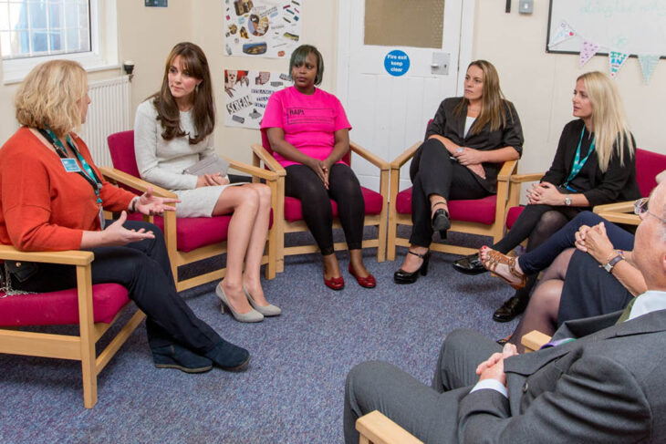 HRH the Duchess of Cambridge meeting our clients at HMP Send